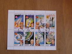 DHUFAR Dhofar Espace Space Astronautique Engin Spatial Conquête Spatiale Fusée Sheet Stamp Bloc Timbres - Blokken & Velletjes