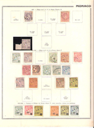 MONACO, 1885 - 1922 , Collection Sur Page Album ,entre Yvert N° 2 Et 72  Neufs ** / * /  Obl ,TB Cote 260 Euros - Neufs
