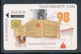 GERMANY  O 761  09.98  Sparkasse Hochrhein - Leer - Deutschland