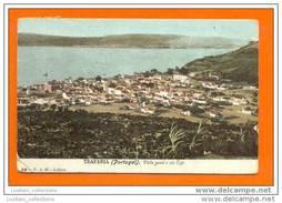 POSTCARD & STAMP YEAR 1905 PORTUGAL TRAFARIA ALMADA RIO TEJO LISBOA GENERAL VIEW