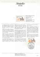 NOTICE PTT 1985 MILLENAIRE DE MONTPELLIER - Postdokumente