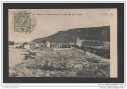 POSTCARD & STAMP TCV YEAR 1907 PORTUGAL TRAFARIA ESTRADA PARA A COSTA DA CAPARICA ALMADA
