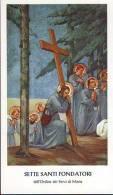 Sette Santi Fondatori,  Santino  Con Preghiera
