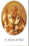 S. Nicola Di Bari,  Santino Con Preghiera