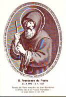S. Francesco Da Paola,  Santino  Con Preghiera