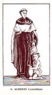 S. Alberto Carmelitano,  Santino Con Preghiera