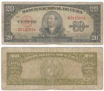Cuba 20 Pesos 1949 Pk 80 A  Ref 607-4 - Cuba