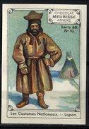 Meurisse - Ca 1930 - 86 - Les Costumes Nationaux, National Costumes, Fashion - 10 - Lapon, Lapland, Lappi, Lappland - Chocolat