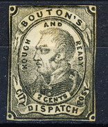 US Local 1848 Bouton's City Dispatch Post, Rough And Ready 2 Cents 1848  New York (II Tipo, Punti Negli Angoli) MLH - 1845-47 Emissions Provisionnelles