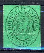 US Local 1844-68 Boyd's City Express Post 2 Cent. Verde Smeraldo M - 1845-47 Emissions Provisionnelles