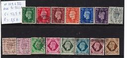 N° 209 à 222 Avec Le 221A - 1902-1951 (Re)
