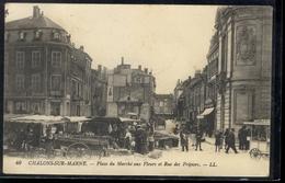 Chalons Sur Marne - Place Du Marché Aux Fleurs Et Rue Des Fripiers - Châlons-sur-Marne