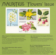 1977 Mauritius Flowers Fleurs Souvenir Sheet MNH - Mauritius (1968-...)