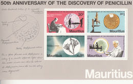 1978 Mauritius Discovery Of Penicillen Doctor Fleming Health  Souvenir Sheet MNH - Mauritius (1968-...)