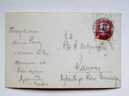 Post Card Sent From Lithuania Kaunas Vytautas Didysis Grand Duke Film Cinema Actor Movie Rudolph Valentino Ross