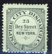 US Local 1881, Express City Dispatch Co., New York  MH - 1845-47 Emissioni Provinciali