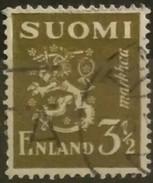 FINLANDIA 1942 Lion. USADO - USED.