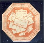 US Local 1844, Hale & Co 20 For $ 1 Rosa, Boston, M. - 1845-47 Emissions Provisionnelles