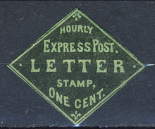 US Local 1852, Hourly Express Post. LETTER Stamp. One Cent. M - 1845-47 Emissioni Provinciali