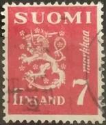 FINLANDIA 1945 -1948 Lion. USADO - USED.