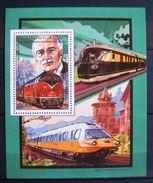 Bloc Timbre Neuf : Locomotive V200 B B - Rudolf Diesel. Comores - 1988. Y.T. Bloc N° 491. - Eisenbahnen