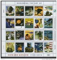 Marshall Islands 2016 Space, Churchill, World War II, Honoring The Art Of Howard Koslow Sheetlet MNH