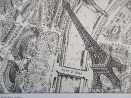 CALENDRIER COMPLET 1992 PLAN DE PARIS EN ELEVATION A VOL D OISEAU . PLAN DE TURGOT . ECOLE D ALEMBERT MONTEVRAIN - Calendriers