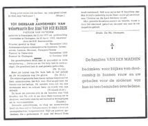 Doodsprentje Pastoor-Priester : Ressegem-Aspelare-Zeveneken-Laarne-Moorsel-Petegem-Deinze-Onkerzele-Oudegem .