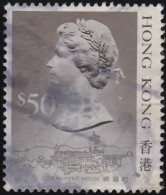 HONG KONG - Scott #504a Queen Elizabeth II / Used Stamp - Used Stamps