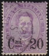 Italy       .     Yvert    .     54      .     O      .           Gebruikt   . /   .     Cancelled - 1878-00 Humbert I.