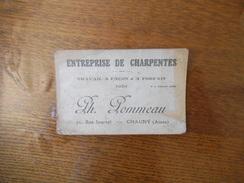 CHAUNY AISNE PH. POMMEAU ENTREPRISE DE CHARPENTES 71 RUE JOURNEL - Cartes