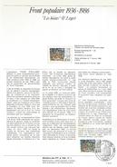 NOTICE PTT 1986 FRONT POPULAIRE - Documentos Del Correo