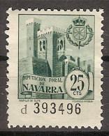 Locales Navarra Diputación Foral (*) Castillo De Olite. 25 Cts - Viñetas De La Guerra Civil