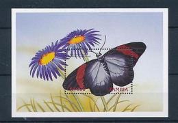 [51357] Zambia 1999 Butterflies Schmetterlingen Papillons MNH Sheet