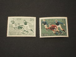IRLANDA - 1974 RUGBY 2 VALORI,in Quartine(blocks Of Four)  -NUOVI(++)-TEMATICHE - 1949-... Repubblica D'Irlanda
