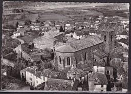 """83   ROQUEBRUNE - SUR - ARGENS  :    L' EGLISE  .  """" EN  AVION  AU  DESSUS  DE  ...  """"    .  (  2  SCANS R° V°  )  . - Roquebrune-sur-Argens"""