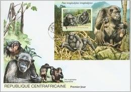 Centrafrica 2012, Animals, Gorilla, BF In FDC
