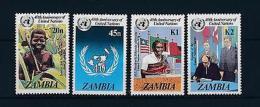 [51200] Zambia 1985 United Nations Flags MNH