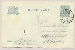 Nederland - 1917 - 3 Cent Wilhelmina Boven En Onder Getand, Briefkaart G90bI, Van Woerden Naar Naarden - Entiers Postaux
