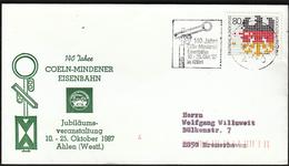 Germany Ahlen 1987 / 140 Jahre Coeln - Mindener Eisenbahn / Trains / Railway - Trenes