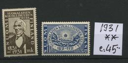 1931 Kirjallisuunden Luxe   Postfrich    Cote 45 €