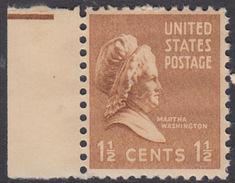 !a! USA Sc# 0805 MNH SINGLE W/ Left Margin - Martha Washington
