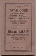 CATALOGUE EDOUARD CABANY 1935 (dil  (dil295) - Stamp Catalogues