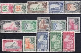 ZANZIBAR  1957 Serie Cpl 15 Val Yv.226-40 Gb 358-72 Gomma Integra  MNH ** €16 - Zanzibar (...-1963)