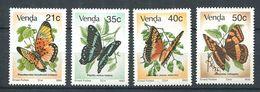 196 VENDA 1990 - Yvert 213/16 - Papillon - Neuf ** (MNH) Sans Trace De Charniere - Venda