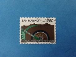 1997 SAN MARINO FRANCOBOLLO USATO STAMP USED - AVVENIMENTI SPORTIVI MOTOCROSS 1250 Lire - - Usati