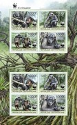 Centrafrica 2012, WWF, Gorilla, 4val In BFx2 In Sheetlet IMPERFORATED - W.W.F.