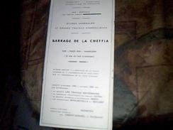 Carte Plan  Archives  Etude Generales Et Travaux Hydrauliques  Republique Algerienne  Barrage De  La Chiffa Annee 60/64 - Travaux Publics