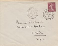Enveloppe  Oblitération   ESPERANTO   EN  MODERNA  VIVO   PARIS    1937 - Esperanto