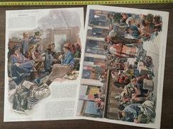 DOCUMENT ANNEES 1900  EMIGRANTS A LA GARE SAINT LAZARE - Vieux Papiers